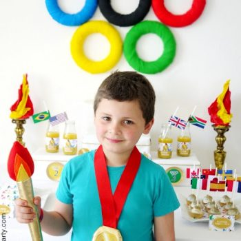 Plush Olympic Torch and Medal