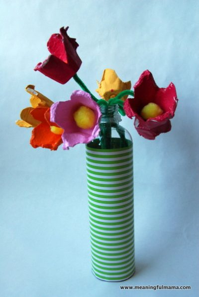 Egg Carton Flower Bouquets