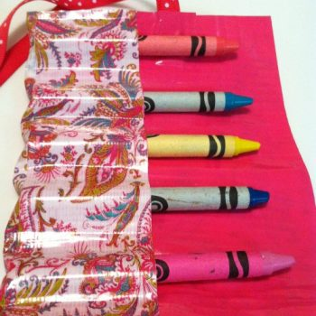Duct Tape Crayon Roll