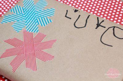 Easy Washi Tape Gift Wrap