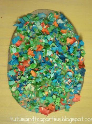 Colored Eggshell Art