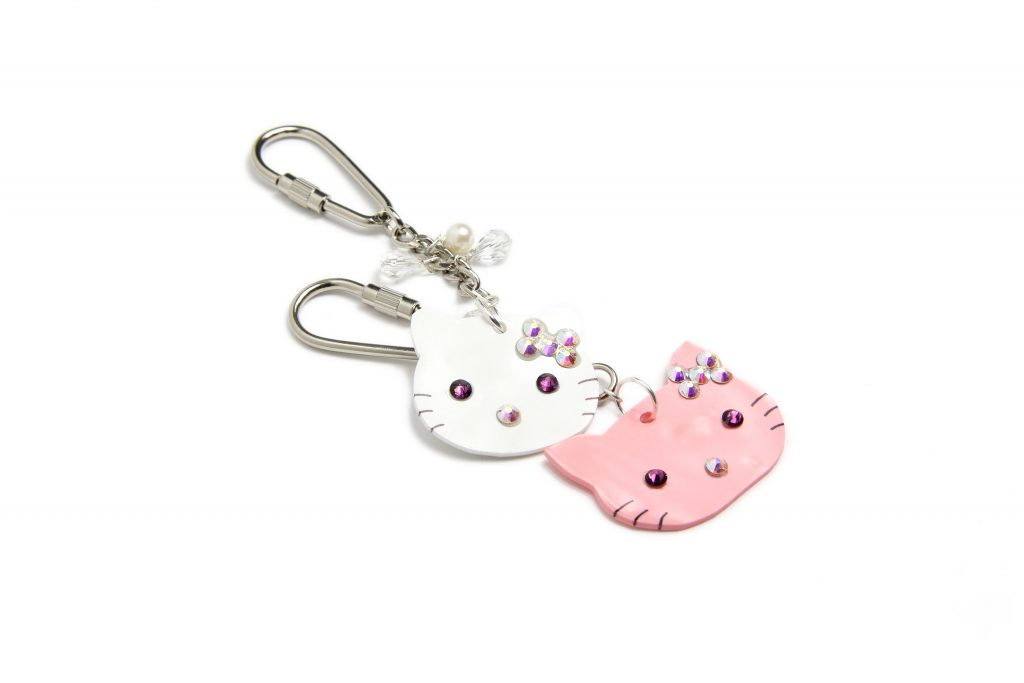 Shrink Plastic Kitty Key Rings