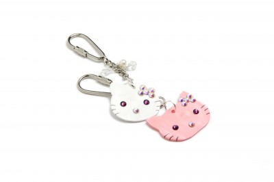 Shrink Plastic Kitty Key Rings
