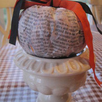 Newspaper Pumpkin