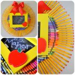 Crayon & Pencil Wreath