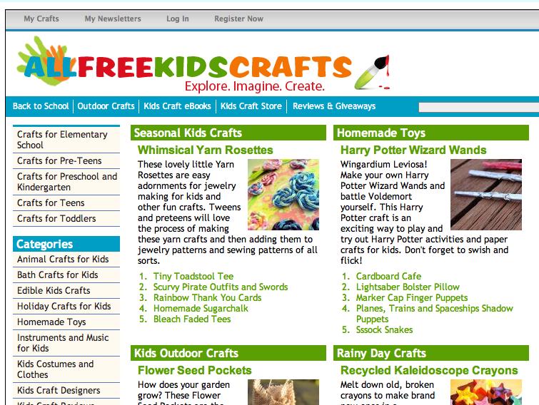 New Site: AllFreeKidsCrafts!