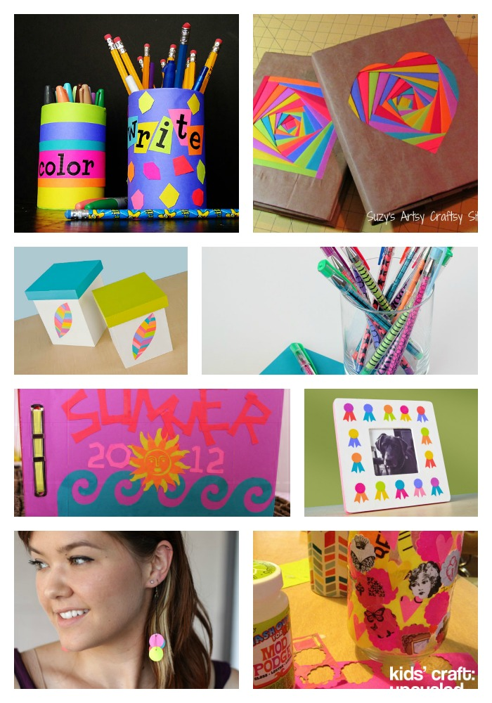 back to school ideas using astrobrights paper