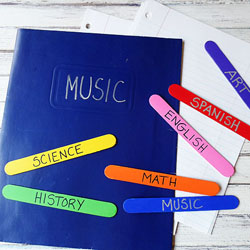 Easy Craft Stick Bookmarks