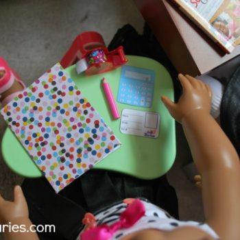 Doll Sized School Supplies
