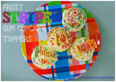 Fruit Stripe Gum Cupcake Toppers