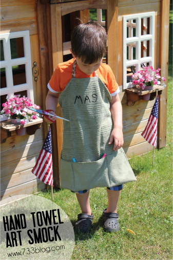 Hand Towel Art Smock Tutorial