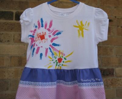 Painted T-Shirt Dress