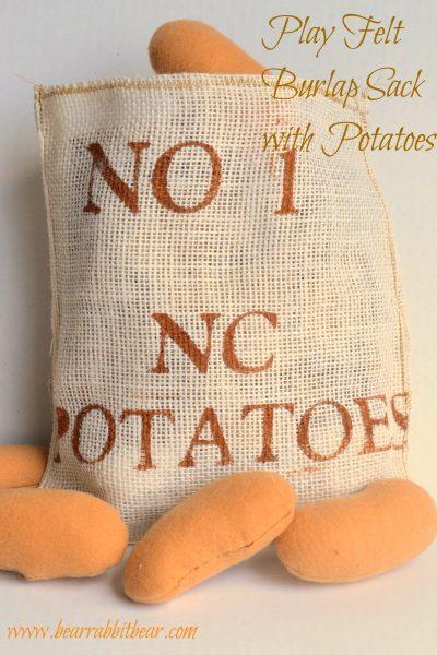 Felt Play Food: Burlap Sack & Potatoes