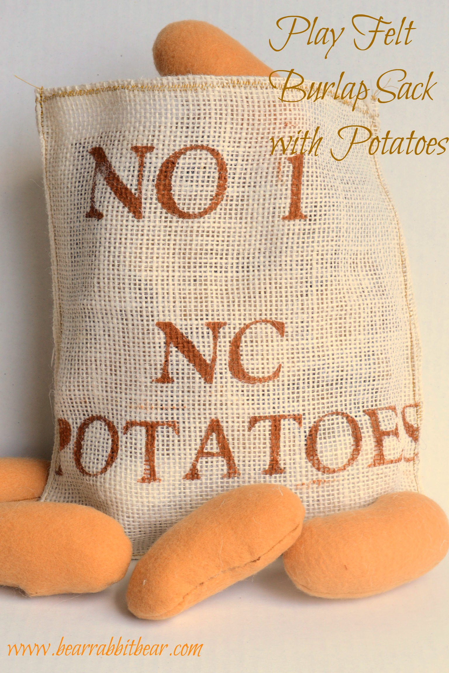 Felt Play Food: Burlap Sack & Potatoes