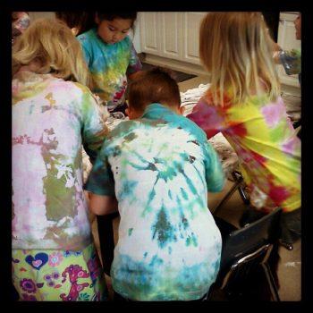 How to Tie Dye with Preschoolers
