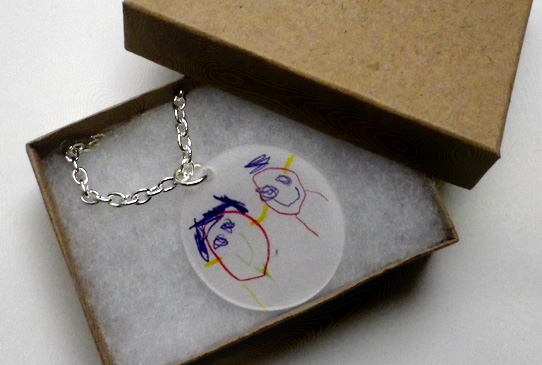Kid Art Necklace