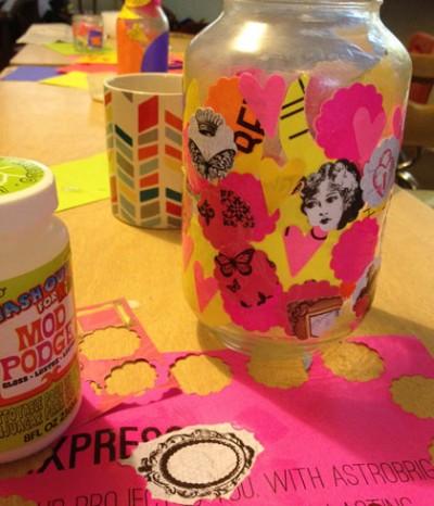 Upcycled Neon Vase