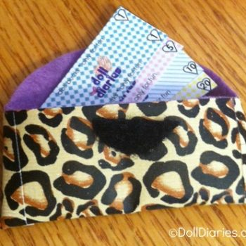 Clutch Wallet and Play Money for Dolls