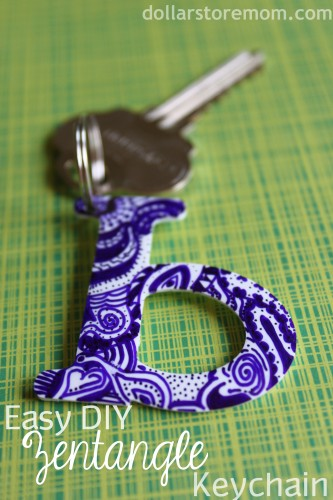 Zentangle Key Chain