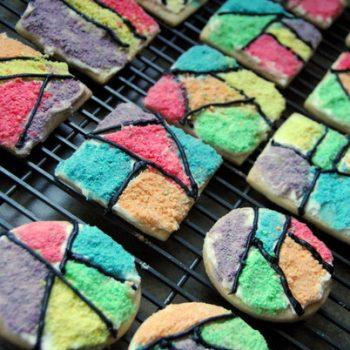 Froot Loop Mosaic Cookies