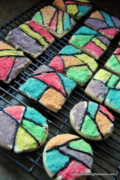 Froot Loop Mosaic Cookies