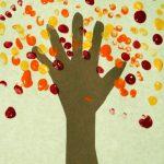 Handprint & Fingerprint Fall Tree