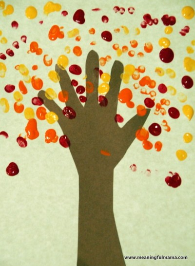 Handprint & Fingerprint Fall Tree