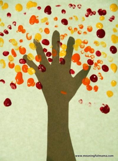 Handprint Fingerprint Fall Tree