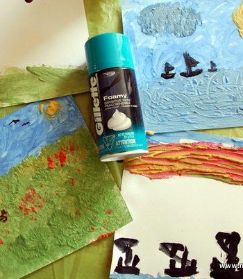 Shaving Cream Impressionism Paintings