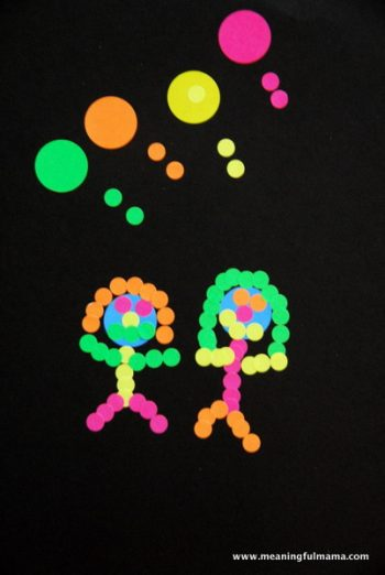 Polka Dot Sticker Art