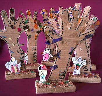 3d handprint trees fun family crafts