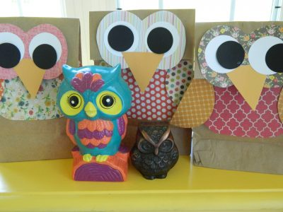 gift bag craft ideas owl gift bags family crafts 4545