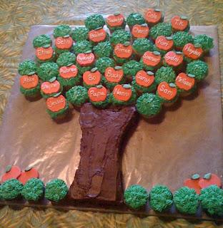 Cupcake Apple Tree
