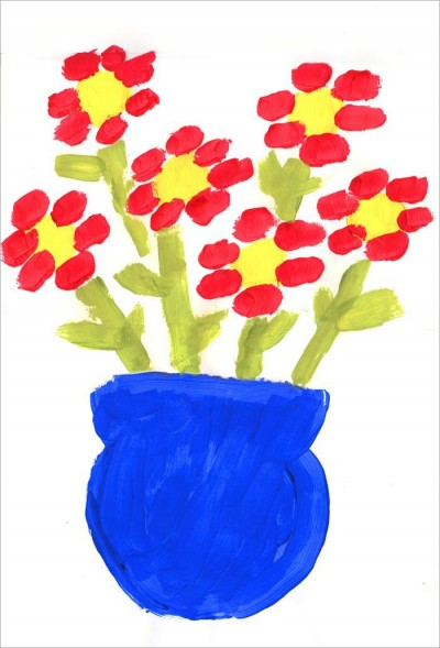 First Flower Painting