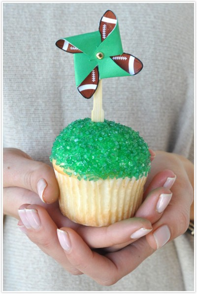 Football Cupcake Toppers Fun Family Crafts