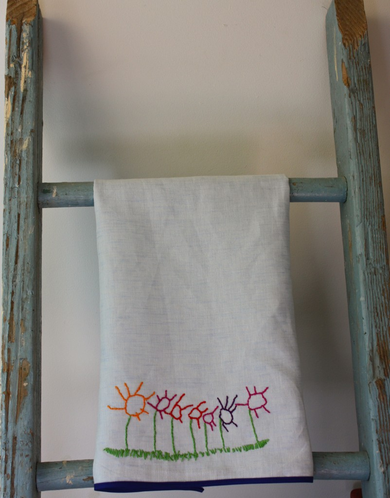 Child's Art Embroidered Towel