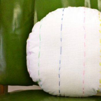 Sew and Embroidered Pillow