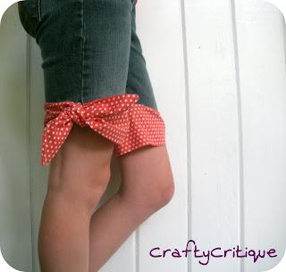Knotted No-Hem Capri Pants