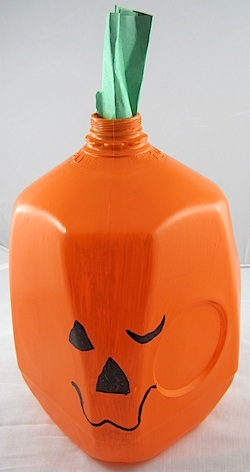 Milk Jug Jack-O-Lantern