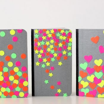 Neon Confetti Notebooks