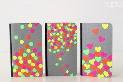 Neon Confetti Notebooks