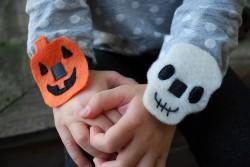 No-Sew Halloween Bracelets