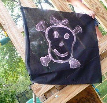 No Sew Pirate Flag