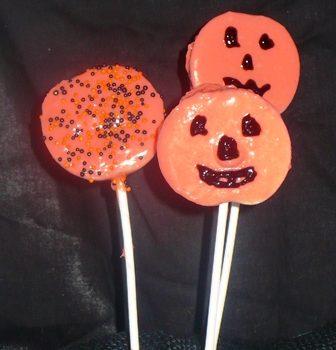 Halloween Chocolate Apple Slice Pops