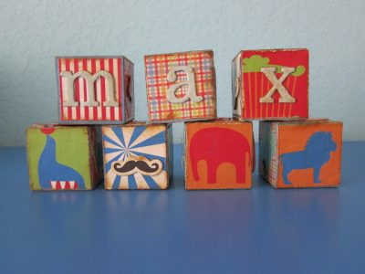 Personal wooden blocks fun family crafts for Child craft wooden blocks