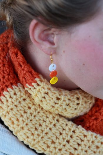 Candy Corn Earrings