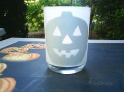 Silhouette Jack O' Lantern Candle