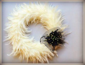 Feathery Halloween Wreath