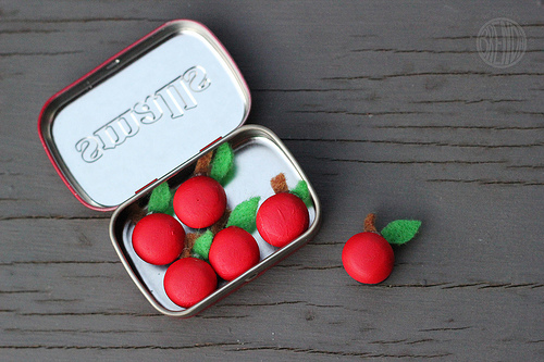 Mini Apple Magnets