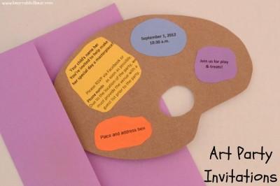 Art Party Invitations – Art Party Invites